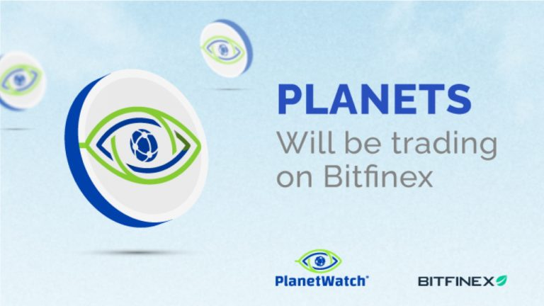 PlanetWatch Announces the Listing of the PLANETS Token on Bitfinex Exchange