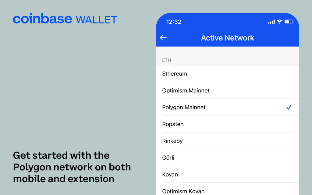 Connect to Dapps on the Polygon network with Coinbase Wallet