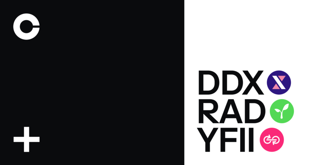DerivaDAO (DDX), DFI.money (YFII) and Radicle (RAD) are launching on Coinbase Pro