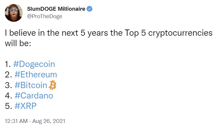 Dogecoin Millionaire Says He's Going 'All in' on Cardano — Bullish on Both DOGE and ADA