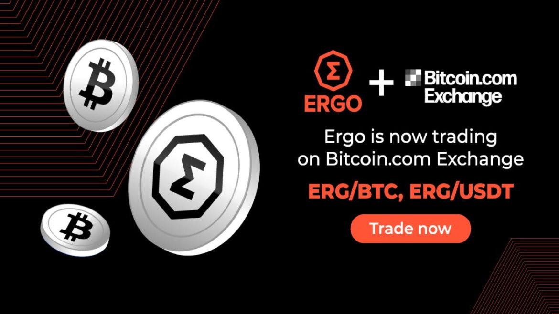 Ergo (ERG) Token Is Now Listed on Bitcoin.com Exchange