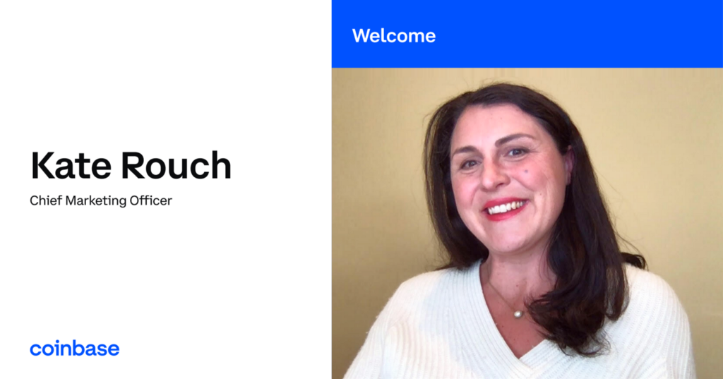 Kate Rouch Joins Coinbase as Chief Marketing Officer